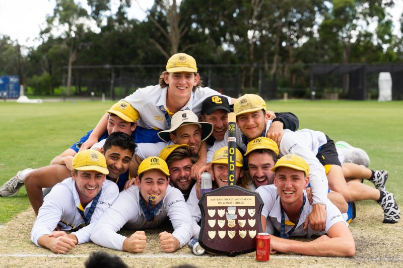 2019-20 Wright Shield Pitch celebrations